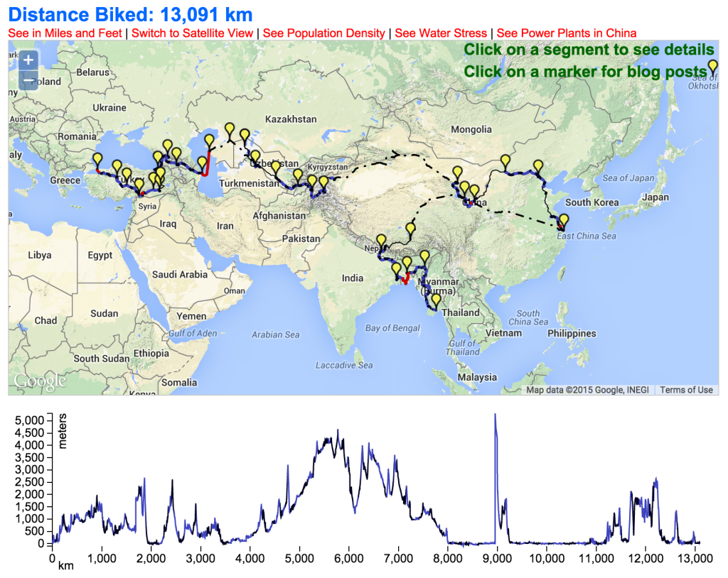 Interactive Map Of Ride For Climate Asia Kroodsma Communications - Austria climate map